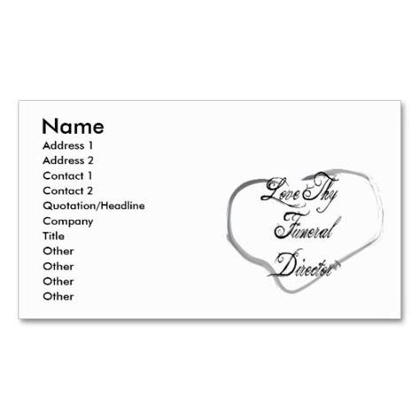 Director Business Card Template by 1000 Images About Funeral Business Cards On