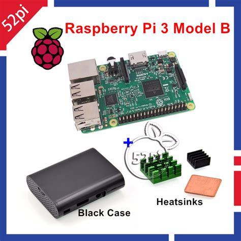 Raspberry Pi 3 Model B 1gb Ram 1 2 Ghz With Wifi Bluetoot raspberry pi 3 model b 1 2ghz 1gb ram wifi bluetooth heatsinks abs black in