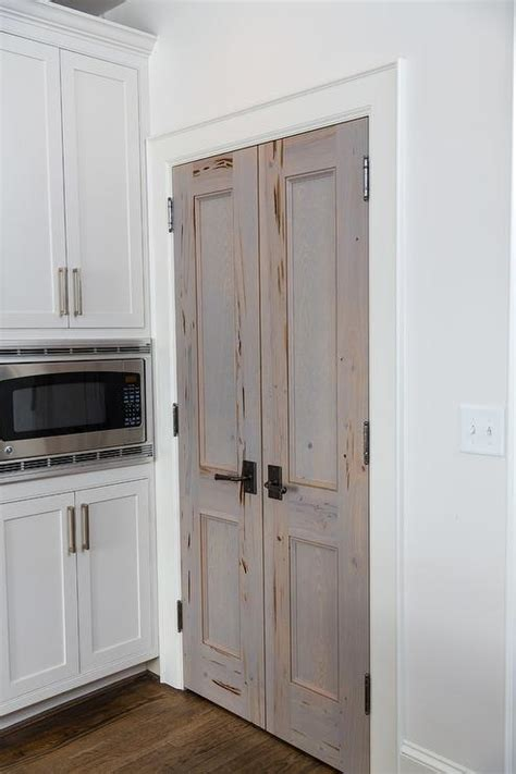 Pantry Closet Doors Cypress Bi Fold Pantry Doors Transitional Kitchen