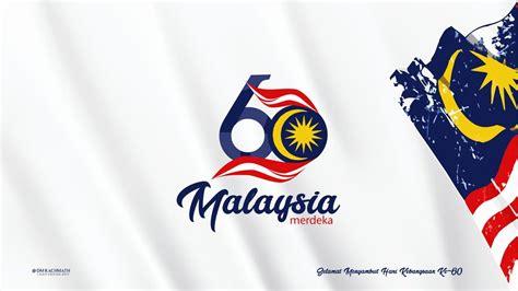 logo hari kebangsaan kemerdekaan malaysia ke 60 6oth malaysia merdeka by