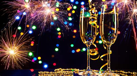 hd wallpapers 1920x1080 new year happy new year 2017 glasses of chagne and fireworks