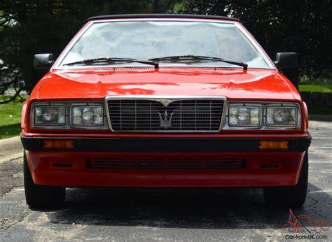 where to buy car manuals 1987 maserati biturbo free book repair manuals 1987 maserati bi turbo spyder only 19k miles