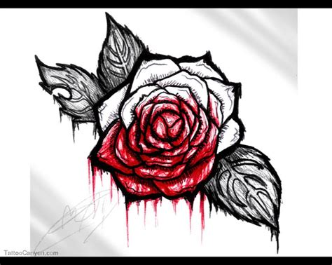 bleeding rose tattoo 9 best tattoos images on ideas