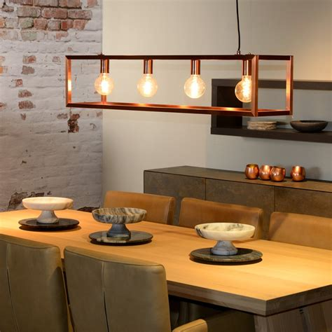 copper kitchen lighting lucide oris 4 light bar ceiling pendant copper