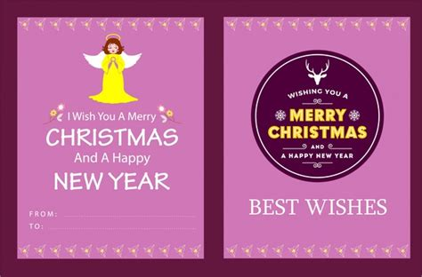 christmas card templates for adobe illustrator christmas card template in pink color design free vector
