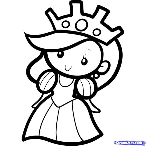 Free Coloring Pages How To Draw A Queen For Kids Step By Step People For Kids For Kids Drawing For To Color