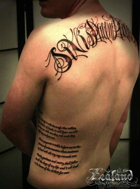 tattoo back and side 66 cool lettering tattoos for back