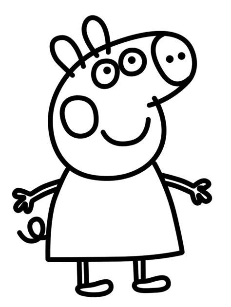 dibujos para pintar pepa im 225 genes de peppa pig para colorear dibujos de