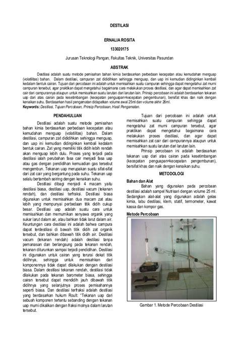 laporan praktikum membuat larutan dari zat cair laporan praktikum destilasi