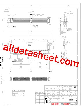 datasheet of transistor 13001 10005639 13001 datasheet pdf fci connector