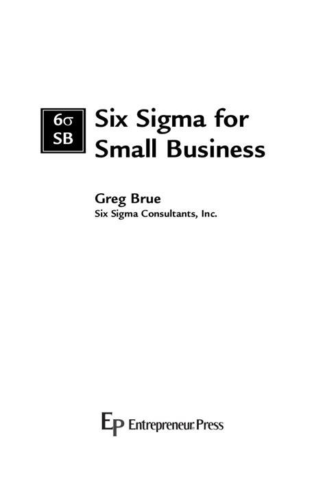 section 3 small business act six sigma for small business