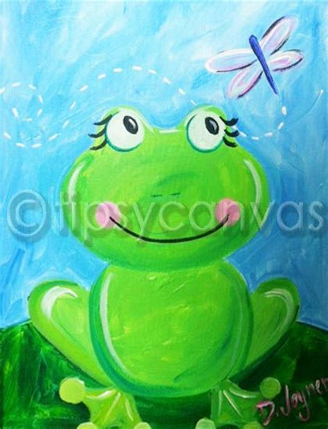 spring painting ideas sweet frog for spring mom crafts pinterest summer