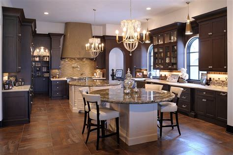round kitchen islands levant elegant kitchen with dual round islands