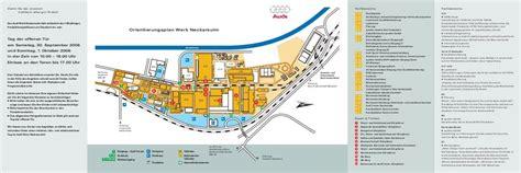 Audi Werk Ingolstadt Plan by Orientierungsplan Werk Neckarsulm