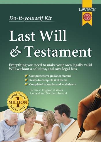 Last Will And Testament Diy Will Download Eki Whsmith Do It Yourself Will Template