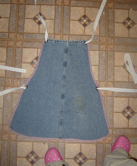 pattern for jeans apron tutorial for upcycling your old blue jeans i have