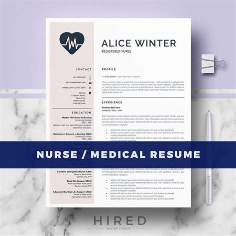 nursing resume templates for microsoft word best 20 nursing resume template ideas on