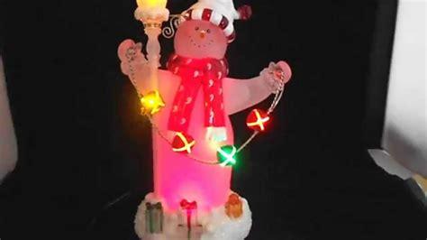 animated fibre optic snowman animated fiber optic snowman