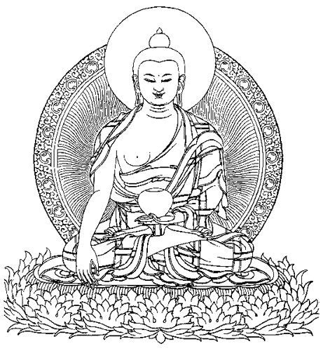 coloring pages for adults buddhist buddha line drawing buddhas statues angels and all