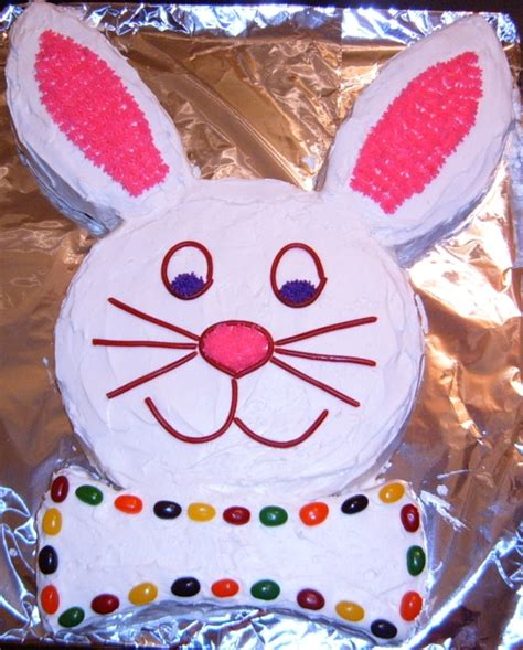 bunny cake peaches and pumpkin