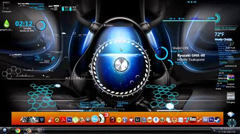 desktop themes youtube how to customize windows 7 desktop with rainmter custom