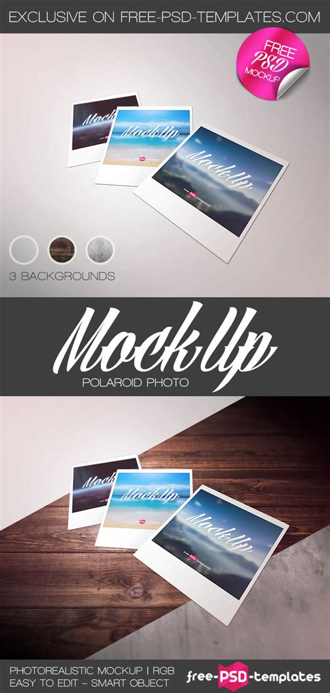 Free Polaroid Photo Mockup Psd Free Psd Templates Free Photoshop Mockup Adobe Mock Ups Adobe Mockup Templates