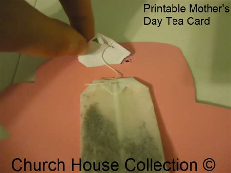 tea bag s day card template printable s day tea card