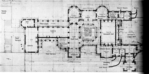 biltmore estate floor plans biltmore ground floor plan with details the gilded age pinterest