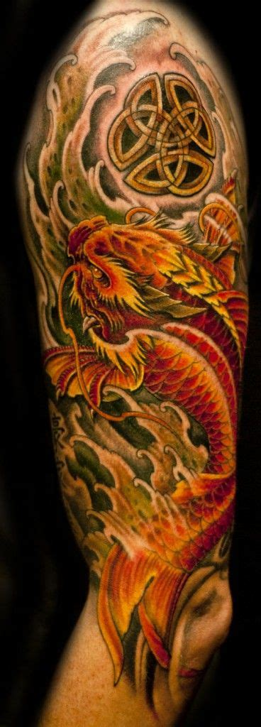 koi dragon half sleeve tattoo designs 25 best ideas about koi on