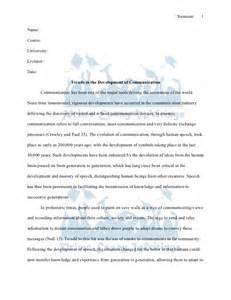Communication Essay Ideas by Prime Essay Writings Sle Trends In The Development Of Communication