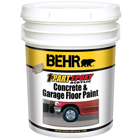 behr premium 1 gal pfc 19 pyramid 1 part epoxy concrete and garage floor paint 90001 the