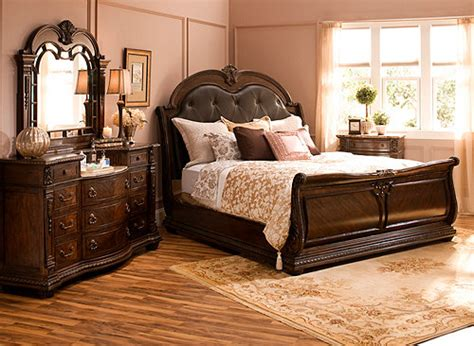 bedroom sets buffalo ny wilshire 4 pc king bedroom set brown cherry raymour