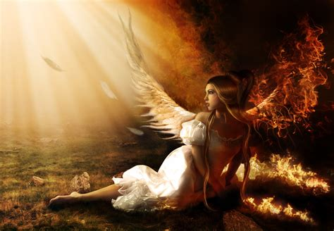 angel s how to create a fallen angel on fire photo manipulation