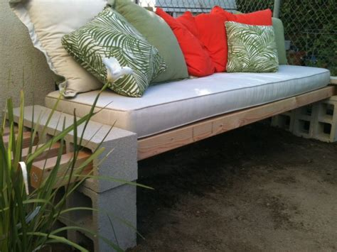concrete block bench cool diy concrete block bench my desired home