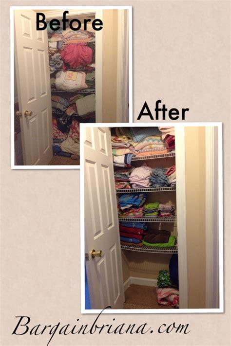 Closet Declutter by Cleaning Decluttering The Linen Closet
