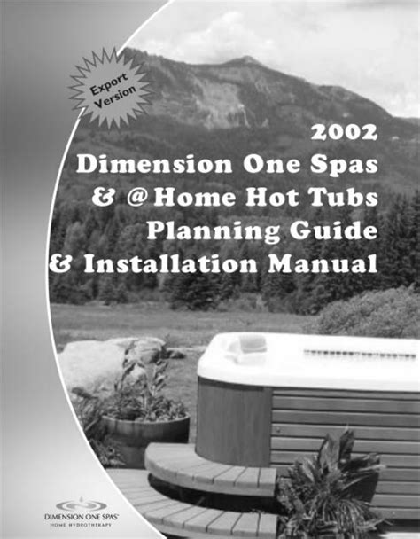 spas manual dimension one spas tub home tubs user guide