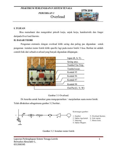 tujuan desain sistem database dan grafik laporan perlengkapan sistem tenaga listrik overload