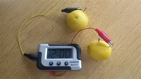 Fruit Powered Clock by How To Make Lemon Powered Clock Science Fair Projects