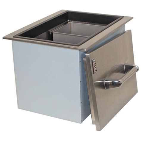 lion drop  ice bin  condiment tray stainless steel