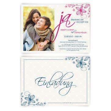 Einladungskarten Hochzeit Ja by Einladungskarten Zur Hochzeit Quot Ja Quot Bestellen