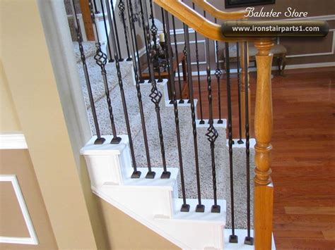 iron banister spindles high quality powder coated iron balusters