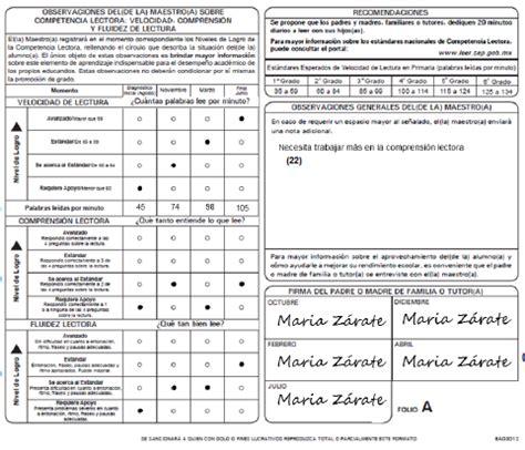 formato de boleta para secundaria ciclo 2016 2017 boleta de evaluacin 2015 2016 secundaria formato de boleta