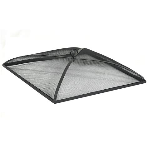 pit mesh screen replacement square pit spark screen black durable steel mesh