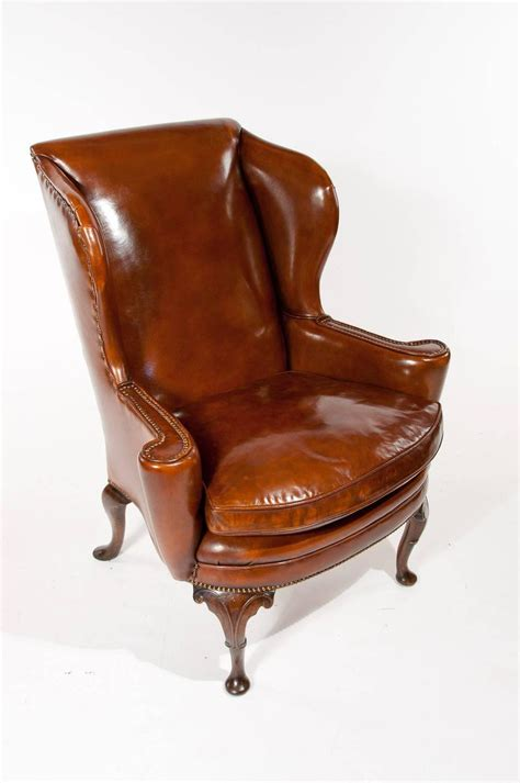 antique wingback chair superb quality 19th century antique leather wing chair at