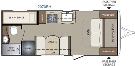 rv floor plans with bunk beds new 2016 keystone rv bullet crossfire 2070bh travel