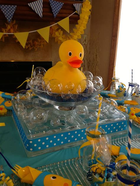 Rubber Duck Decorations by Rubber Duck Baby Shower Shelley Beatty