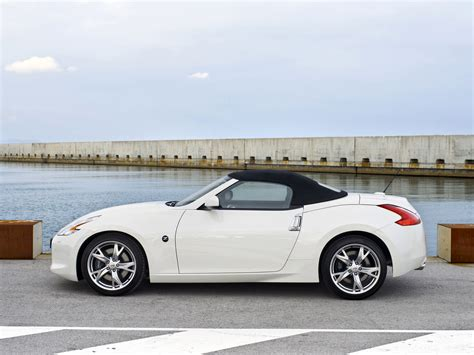 nissan convertible white 370z convertible z34 370z nissan database carlook