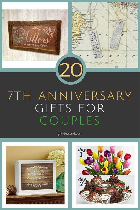gifts for 20 year best 20 great 7th wedding anniversary gift ideas for him