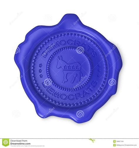 blue democrats blue democrats seal of approval stock images image 30867194