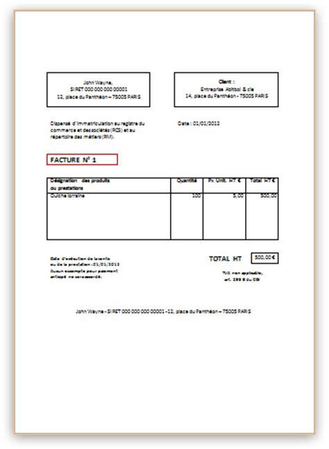 facture type 233 ditable pour auto entrepreneur de